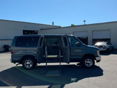 BLUE Ford E-Series Wagon with Side Entry Automatic Fold Out ramp