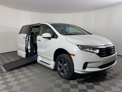 New Wheelchair Van for Sale - 2021 Honda Odyssey EX PC Wheelchair Accessible Van VIN: 5FNRL6H54MB024102