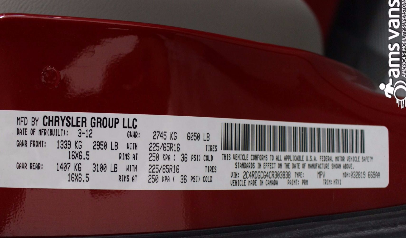 2012 Dodge Grand Caravan SXT Wheelchair Van For Sale #26