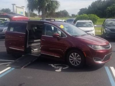 Red Chrysler Pacifica with Side Entry Automatic  ramp
