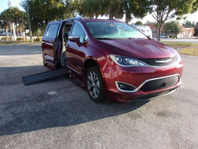 Red Chrysler Pacifica with  Automatic In Floor ramp