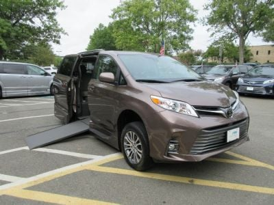 Brown Toyota Sienna with Side Entry Automatic In Floor ramp