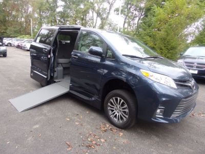 Blue Toyota Sienna with Side Entry Automatic In Floor ramp