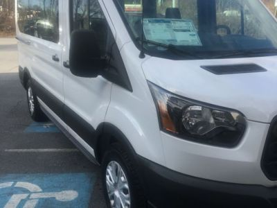 White Ford T150 with Rear Entry Automatic Fold Out ramp