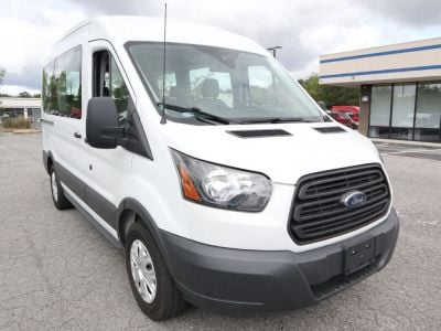 Handicap Van for Sale - 2017 Ford Transit 8 Passenger Mid-Roof 150 XL - 8 Wheelchair Accessible Van VIN: 1FMZK1CM3HKB51013