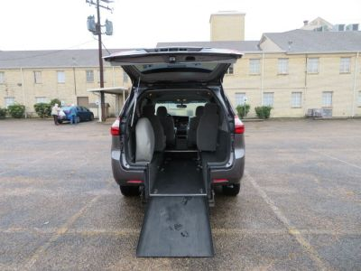 Gray Toyota Sienna with Rear Entry Automatic Fold Out ramp