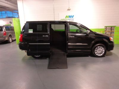 Black Chrysler Town and Country with Side Entry Automatic In Floor ramp