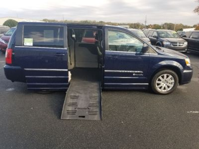 Blue Chrysler Town and Country with Side Entry Automatic Fold Out ramp