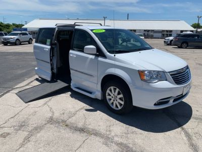 White Chrysler Town and Country with  Automatic In Floor ramp