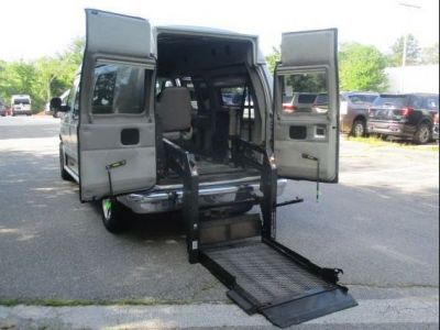 White Ford E-Series Chassis with    ramp