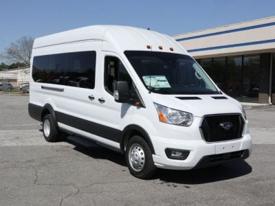 New Wheelchair Van for Sale - 2021 Ford Transit Passenger High Roof 350 HD XLT - 15 Wheelchair Accessible Van VIN: 1FBVU4XG3MKA04658