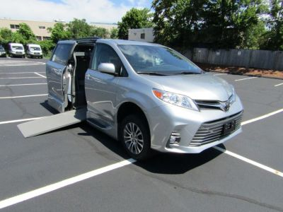 Silver Toyota Sienna with Side Entry Automatic In Floor ramp
