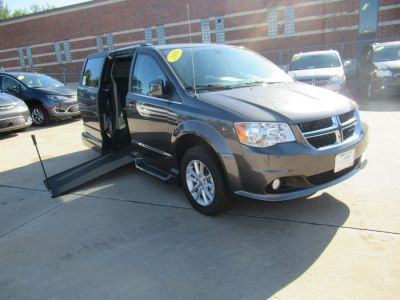 Gray Dodge Grand Caravan with Side Entry Manual In Floor ramp